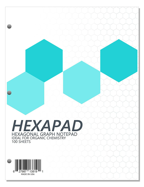 Hexapad 100 hojas de carpeta para quimica organica xsr