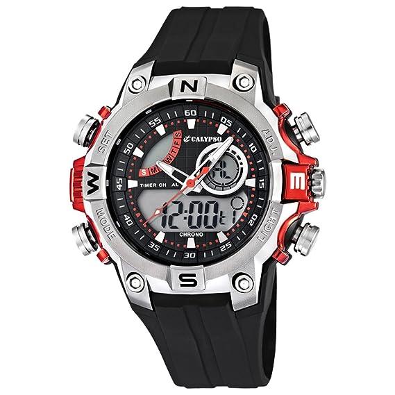 113f9d92f3b3 Calypso watches K5586 1. - Reloj para Hombres Color Negro  Amazon.es   Relojes