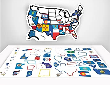 Car Decal Us State Map Rv State Sticker Travel Map Quot X - Usa staes map