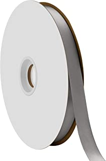 "product image for Offray Berwick 5/8"" Single Face Satin Ribbon, Pewter Gray, 100 Yds"
