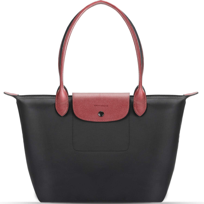 Noir Sac à main Femme Grande Pochette Portefeuille Femme pliable en cuir synthétique Fashion Purse