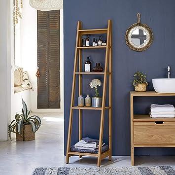 solid teak bathroom shelf vertical tier design natural bathroom rh amazon co uk teak bathroom mirror with shelf teak bathroom shelf unit