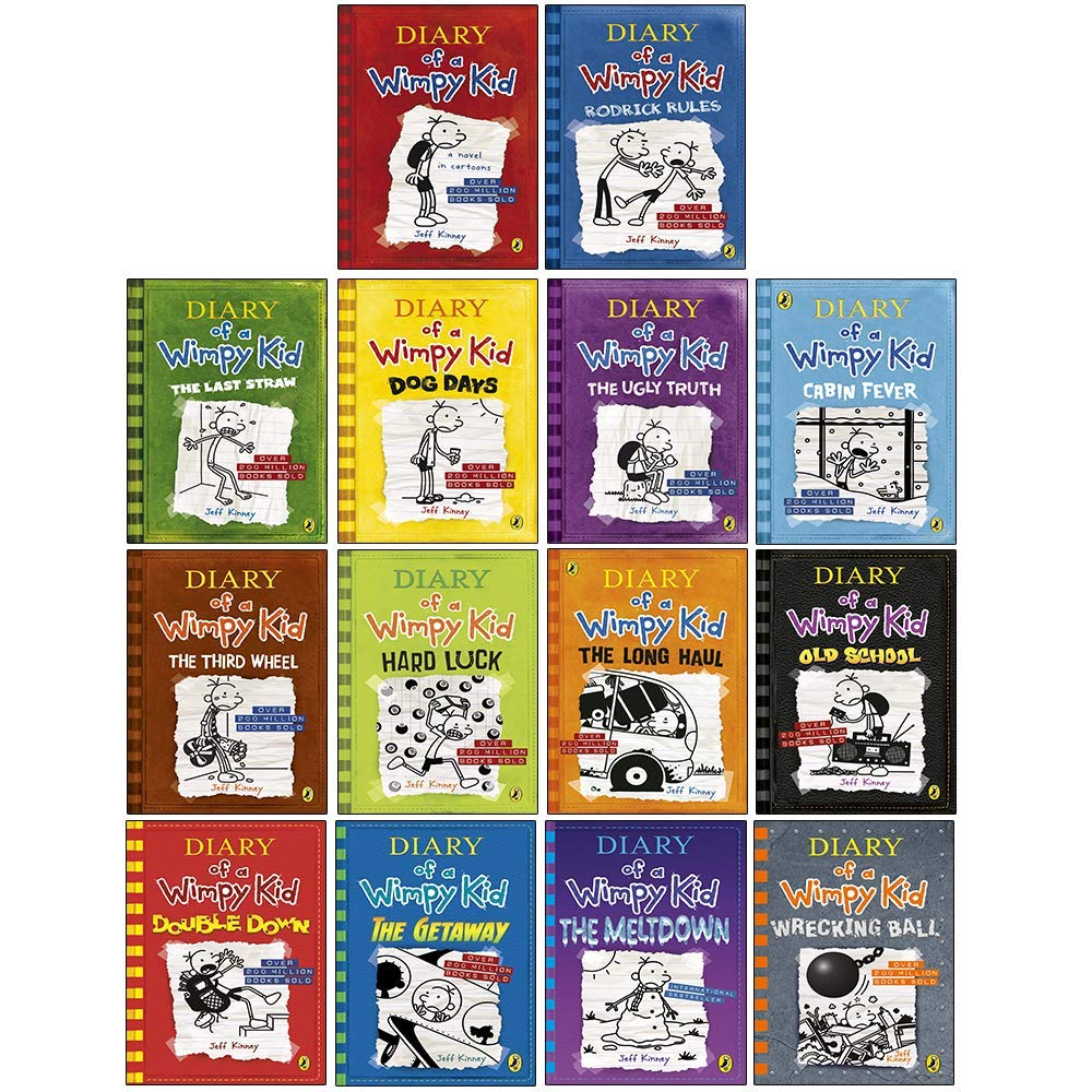 Amazon Com Diary Of A Wimpy Kid Series Collection 14 Books Set By Jeff Kinney Diary Of A Wimpy Kid Rodrick Rules The Last Straw Dog Days The Ugly Truth Cabin Fever The Third Wheel Hard Luck Long Haul And More