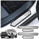 RAV4 Interior Accessories,RAV4 Door Sill Protector Compatible for Toyota Rav4 2019 2020,RAV4 Door Step Plate,RAV4…