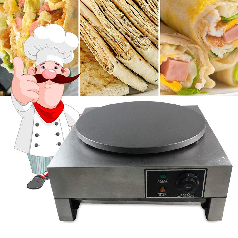 Electric Crepe Maker, 3KW Electric Pancakes Maker Griddle, 16'' Electric Nonstick Crepe Pan with Batter Spreader, Precise Temperature Control for Blintzes, Eggs, Pancakes and More by NOPTEG (Image #4)