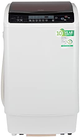 Haier 7.2 kg Fully-Automatic Top Loading Washing Machine (HWM72-1128NZP, White)