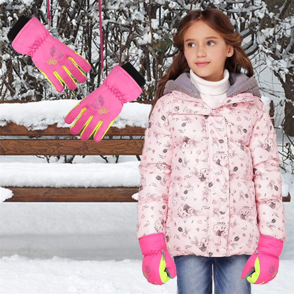 TBoonor Winterhandschuhe f/ür Kinder Warme Skihandschuhe wasserdichte und Winddichte Verdickt Winterzeit Handschuhe Geeignet f/ür Jungen und M/ädchen im Outdoor Sport