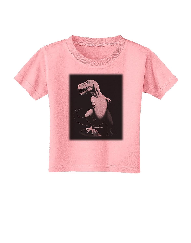 TooLoud Tyrannosaurus Rex Design Grayscale Toddler T-Shirt
