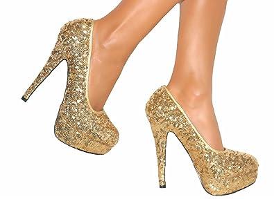 4e550867ed75 Escarpins à talon aiguille et plate-forme - chaussures de soirée mariage -  femme