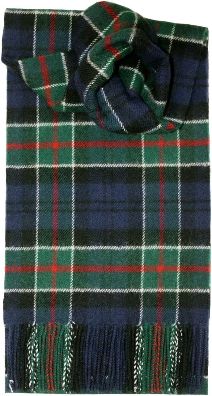 Scarf Clan Colquhoun Tartan Scottish Wool Plaid