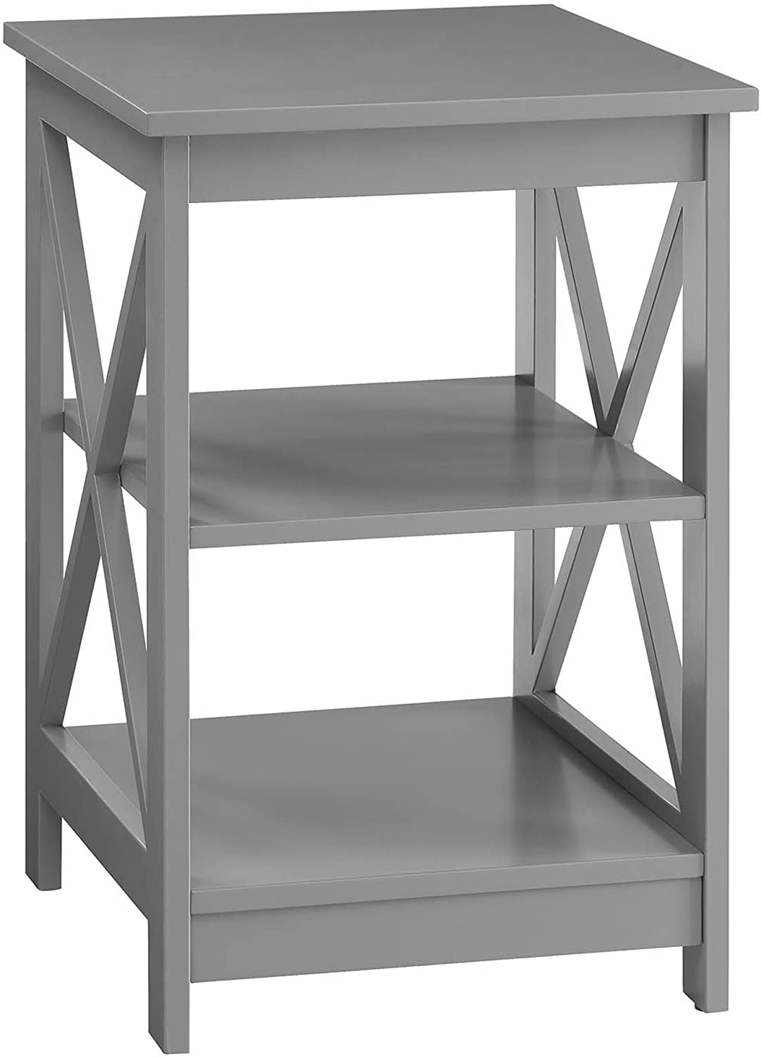 Convenience Concepts Oxford End Table, Gray: Kitchen & Dining
