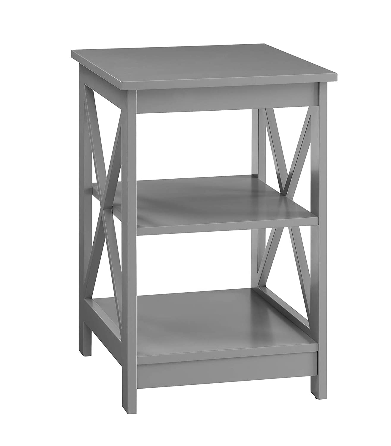 Convenience Concepts Oxford End Table, Gray 203085GY