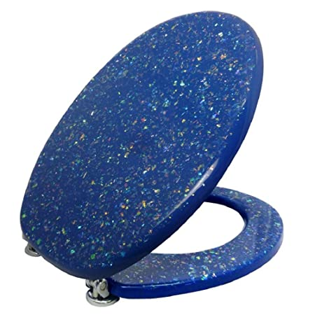 Pleasing Toilet Seat Toilet Lid With Toilet Seat 3D Sparkle Blue Pdpeps Interior Chair Design Pdpepsorg