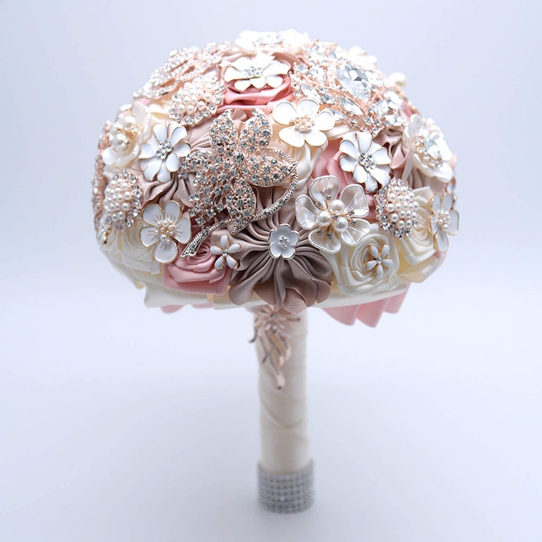 Amazon Com Get In Silk Wedding Flowers Rhinestone Jewelry Blush