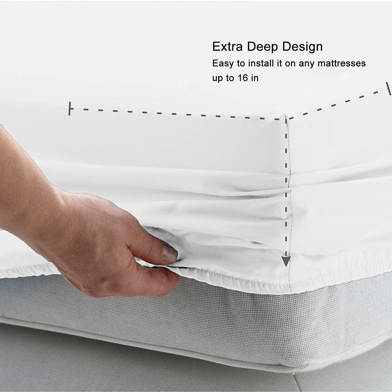 Yangbaga Sabana Bajera Adjustable- Algodón y Polyester-90 * 190 * 40cm Blanco: Amazon.es: Hogar