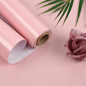 Oxdigi Pink Contact Paper Decorative 24 x 196 inches for Cabinets Countertops Kitchen Shelves Liner Glossy Glitter Self Adhesive Film Peel and Stick Waterproof Removable Wallpaper