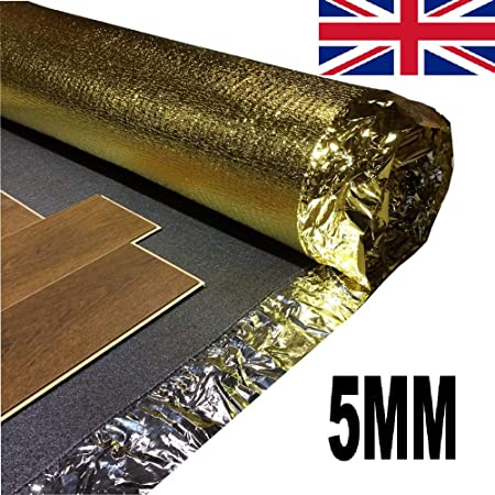 Acoustic Sonic Gold 5mm Laminate Underlay 2 Roll 30m Free