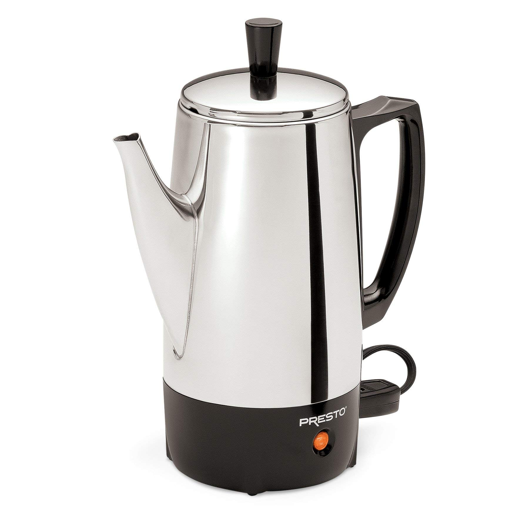 Presto 02822 6-Cup Stainless-Steel Coffee Percolator (Renewed)
