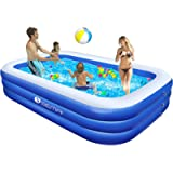 Family Inflatable Swimming Pool, Semai 118'x72'x20' Full-Sized Inflatable Lounge Pool for Kiddie, Kids, Adults, Toddlers…