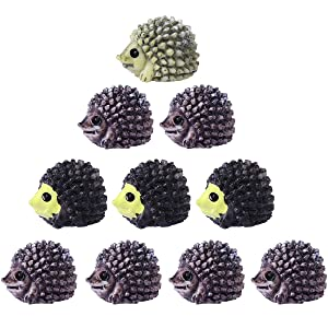 Oulii 10pcs Mini Micro Landscape Hedgehog Garden Decor