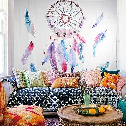 90050e620f4e Orangehome Dreamcatcher Tapestry Bedroom Tapestry Wall Hanging Mandala  Hippie Bohemian Flower Tapestry Wall Art Bedding Tapestry