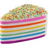 Anboor 5.8 Inches Squishies Cake Rainbow Jumbo Slow Rising Kawaii Scented Cheese Squishies,1Pcs