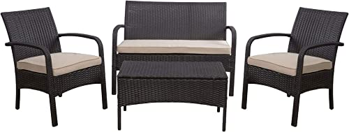 Christopher Knight Home Cordoba PE Rattan Chat Set