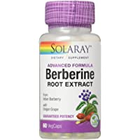 Solaray Advanced Formula Berberine Root Extract with Oregon Grape, 60 VegCaps