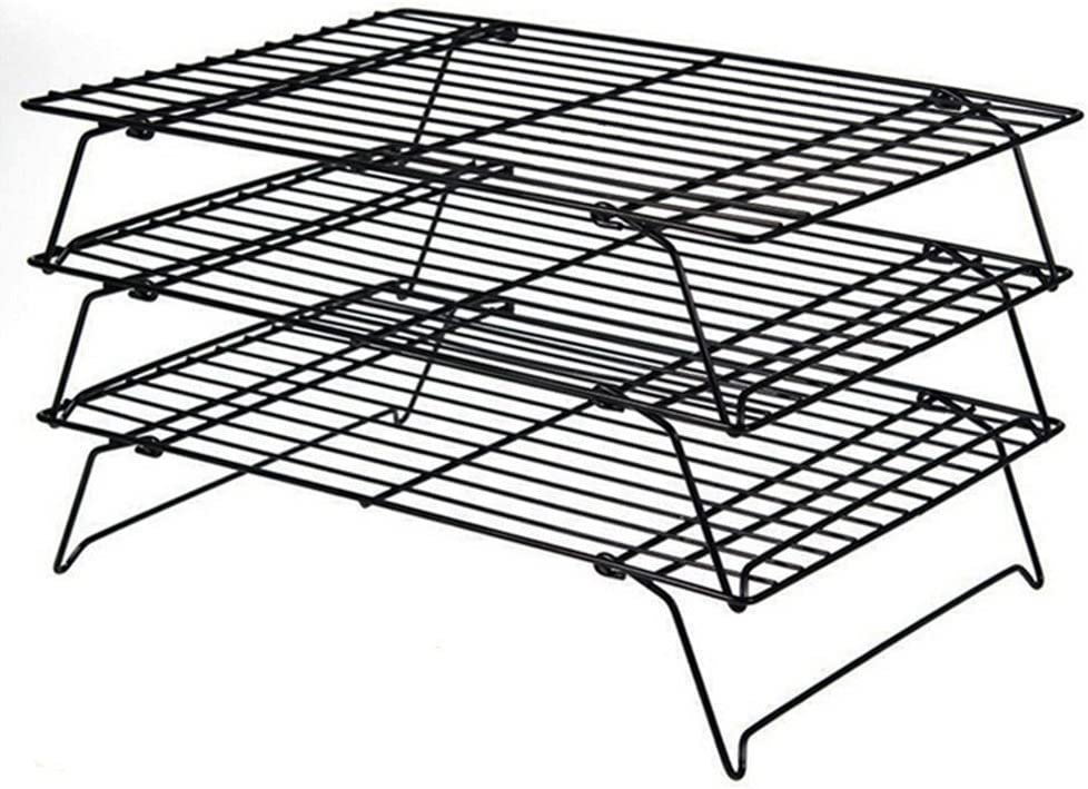 Daixers 3-Tier Stackable Cooling Rack,Baking Racks 13.5x 9.5 Inch