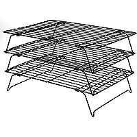 Daixers 3-Tier Stackable Cooling Rack,Baking Racks 13.5x 9.5 Inch