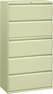 product image for HON 885LL 800 Series Five-Drawer Lateral File, Roll-Out/Posting Shelves, 36w x 67h, Putty