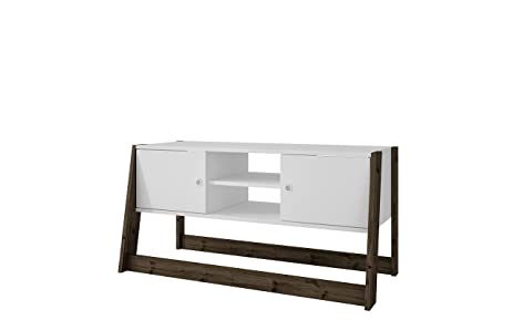 Manhattan Comfort Salvador Collection Reclaimed Modern Accent Wooden TV  Stand With Shelves And 2 Cabinets,