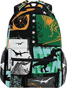 ALAZA T-Rex Dinosaur Animal Pop Vintage Large Backpack Personalized Laptop iPad Tablet Travel School Bag with Multiple Pockets for Men Women College