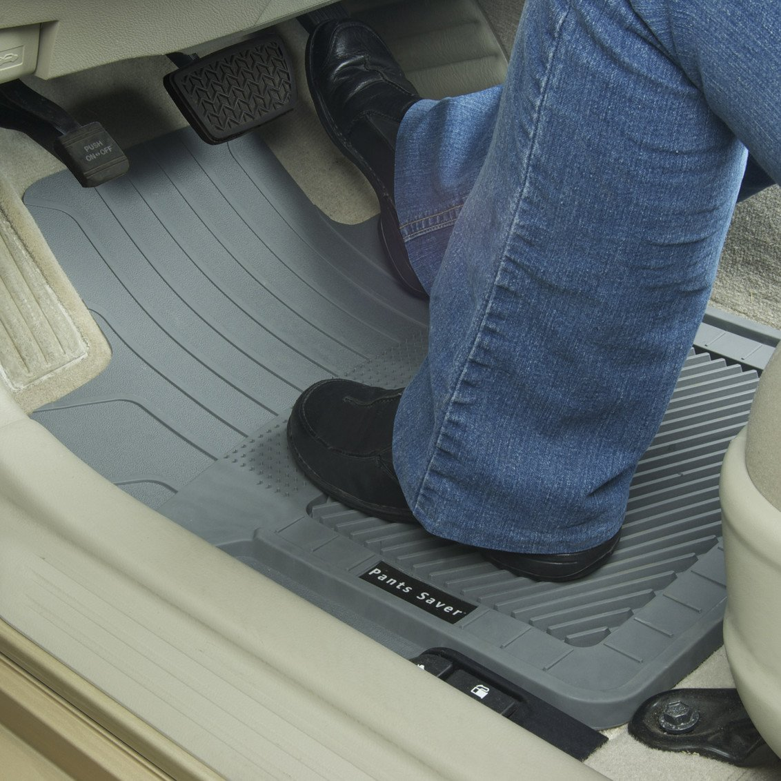 Custom Fit Car Mat 4PC 0801152 Gray PantsSaver