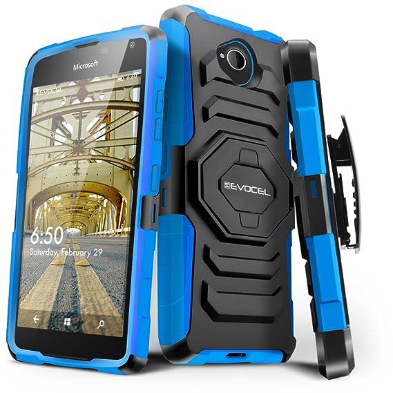 the best attitude 00551 70abd Lumia 650 Case, Evocel [New Generation Series] Belt Clip Holster,  Kickstand, Dual Layer for Microsoft Lumia 650, Blue (EVO-NK650-XX02)