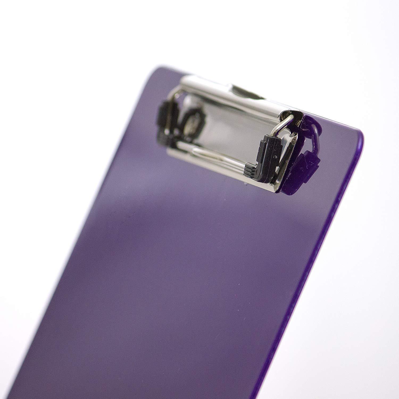 Presse-papiers A4 Conseil en plastique transparent Cartes dagrafe color/ées pour fichiers de m/émo papier violet
