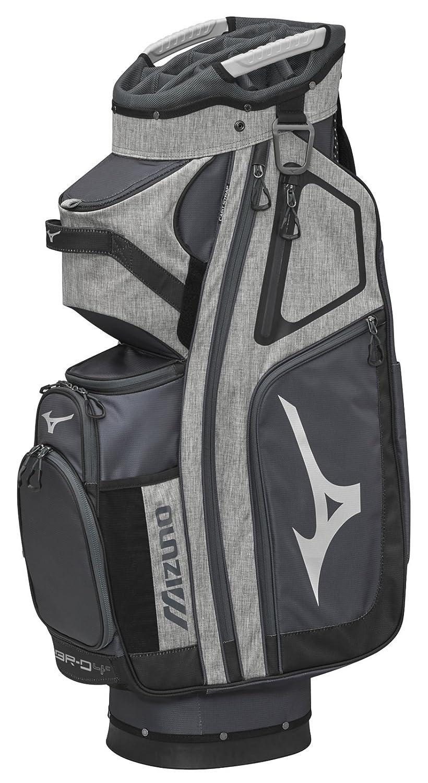 Mizuno br-d4 Cゴルフカートバッグ、グレー/ブラック B074J85KGV