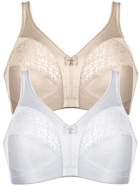Naturana - Sujetadores para Mujer 5139 (Pack de 2) Piel Blanco EU 80 / ES 95 E: Amazon.es: Ropa y accesorios