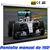 Pantalla de proyeccion manual de 150""