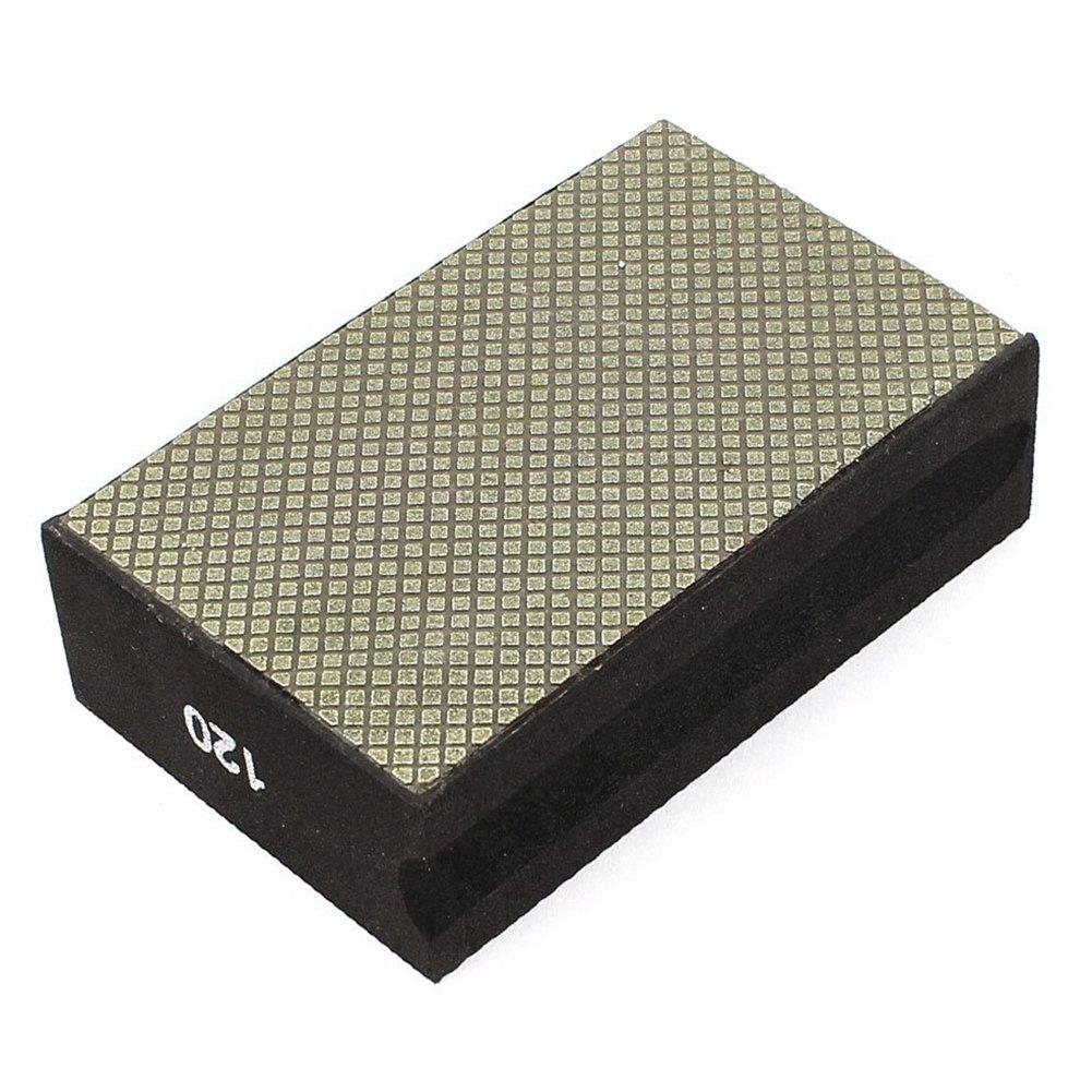 R Nero SODIAL grana 120 con inserto in spugna abrasiva diamantata Tampone per lucidatura manuale