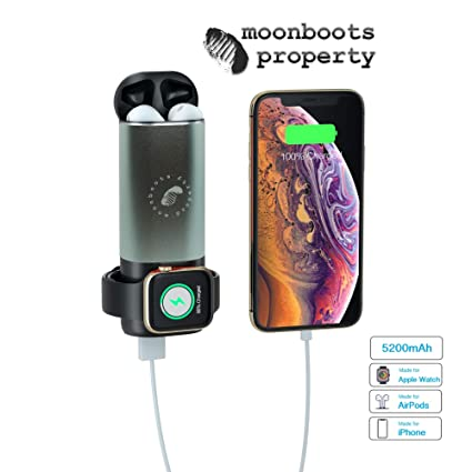Amazon.com: Moonboots Propiedad 3 en 1 Compatible Airpods y ...
