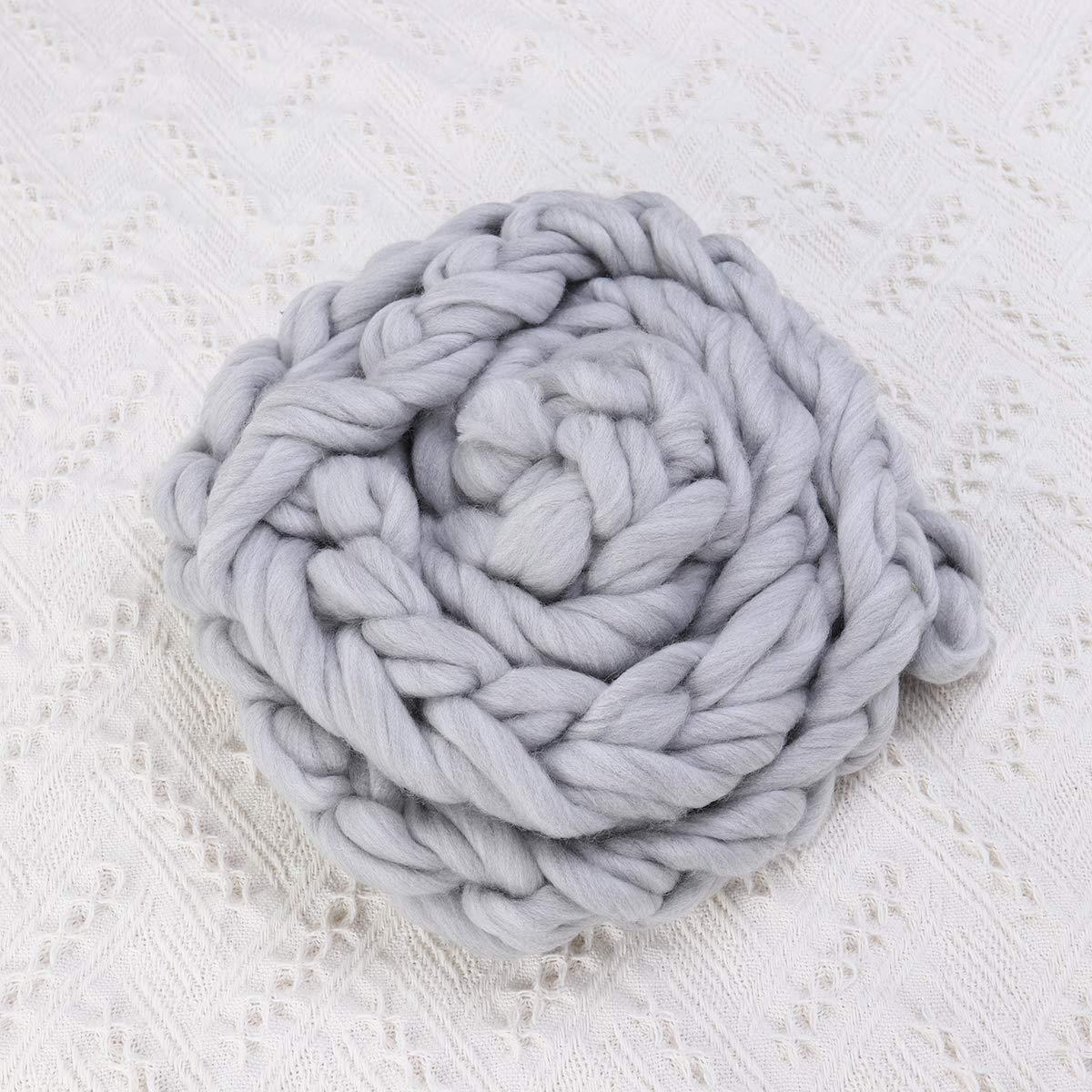 Museya Newborn Photography Props Baby Hand-woven Twisted Braid Rug Blanket