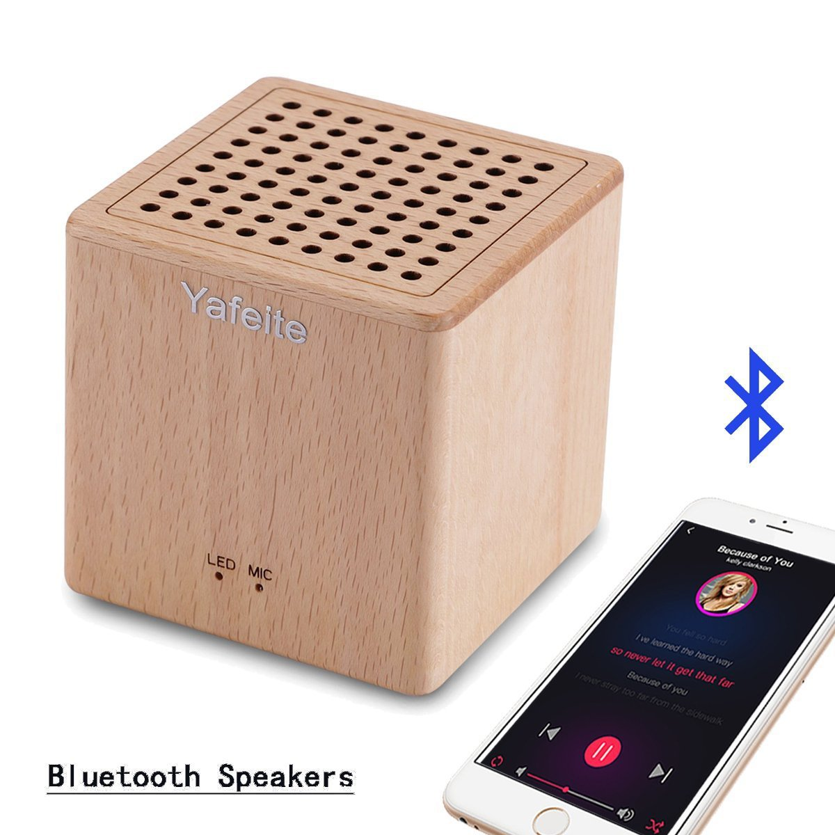 Portable Bluetooth Speakers Yafeite Wireless Computer Speakers Built-in Mic Answer The Phone/FM Radio Support Micro TF Card/USB Input/AUX Line-in … (Yellow)