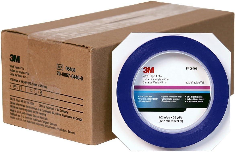 1//2 3M Scotch Blue Fine Line Plastic Striping Tape-Car