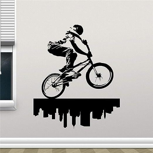 jiuyaomai Tatuajes de Pared Bicicleta Estilo Libre Deportes ...