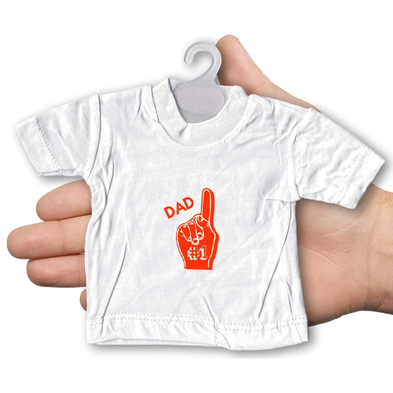 My Custom Style Mini T-Shirt per Auto #Festa del pap/à HappyFather3# Bianca