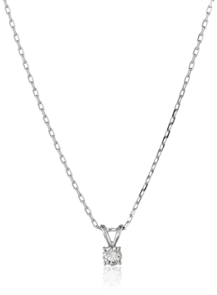 621f6a8567800 IGI Certified 14k White Gold Round-Cut Diamond Pendant Necklace (0.25 cttw