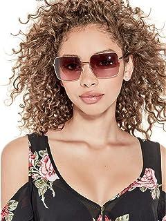 e6f02b62e G by GUESS Women's Geometric Aviator Sunglasses at Amazon Women's ...