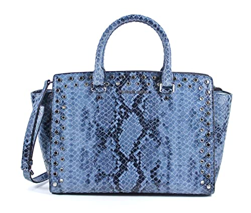 amazon com michael michael kors large jewel trim selma snake print rh amazon com