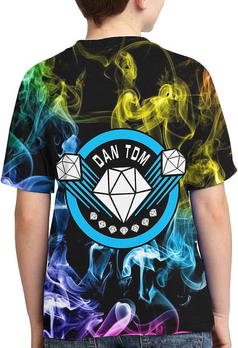 Teen Youth Boys Dantdm Dan TDM Diamond Logo Merch T ShirtTee Shirts for Teens Boy Short Sleeve Apparel Tshirt Black Clothes